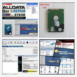 Wholesale On Sales Alldata Software alldata and Mitchell auto repair software in1TB HDD fit win7 win8 XP for all cars trucks