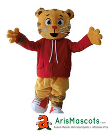 100% real photos Aduit Size Daniel Tiger Mascot Costume Cartoon Mascot Costumes for Kids Birthday Party Deguisement Mascotte Custom Mascots