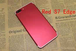 Promotion pouces 1gb Livraison gratuite DHL Red Goophone i7 Plus Android 6.0 Quad Core MTK6580 1 Go RAM 8 Go ROM 5.5 pouces 3G WCDMA Débloqué Smartphone