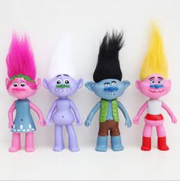 Wholesale Trolls Acciones Figuras con luz intermitente Amapola Movie Minifigures Juguetes con diseño de figura de juguete Toy Doll regalo KKA1071