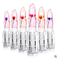 Color lipstick Flowers jelly temperature lipstick Black chrysanthemum jelly lip gloss free shipping