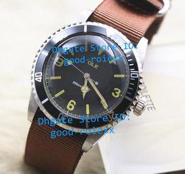 Promotion cru mens watch automatique Deux montres de bracelet de tissu de l'OTAN de cadran noir de la montre spéciale automatique automatique de date du style des hommes classiques de la montre Montres de bracelet de tissu de l'OTAN de cadran noir de Nato Montres-bracelets