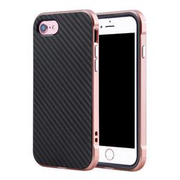 Luxury Aluminum Metal Frame Carbon Fibre Back Case Cover For iPhone 7 iPhone 7 Plus