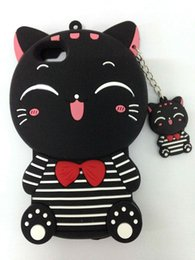 Stylish 3D Cartoon Lovely Animal Design Soft Silicone Back Case Cover for iPhone 5 5G 5S SE