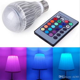 New Arrival LED RGB bulb E27 9W 15W AC 85-265V rgb led Lamp with Remote Control multiple colour led rgb lamp