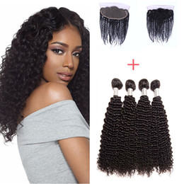 Resika 8A Brazilian Virgin Hair With 13*4 Lace Closure Top Brazilian Curly Virgin Hair With Closure Fashion Hair 4pcs 200g With Closure