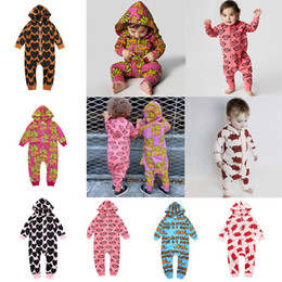 Newborn Infant Rompers Baby Hooded Jumpsuits 100% Cotton French fries Printed Jumpsuit Sets Letters Floral Clothes 2017 Kids Clothing 02