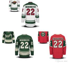 2016 New, Cheap Men's Minnesota Wild Ice Hockey Jerseys Nino Niederreiter #22 Jersey RED,WHITE,GREEN,Authentic Stitched Jerseys S-3XL
