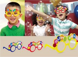 Birthday party props foam glasses