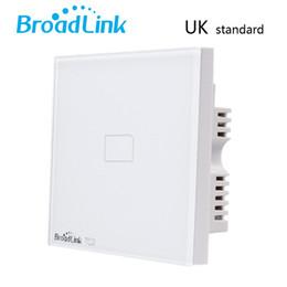 Broadlink TC2,UK Standard 1 gang,smart home Automation,phone Remote wireless Wall light lamp touch Switch via broadlink rm pro