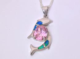 Wholesale & Retail Fashion Jewelry Fine Blue Fire Opal Stone Silver Plated Pendants For Women PJ16021411
