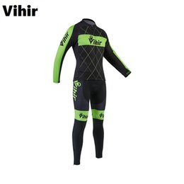 Compra Online Almohadilla para el ciclismo-Vihir Breathable Quick-Dry 3D cojín de almohadilla Coolmax Ciclismo Jersey y Bib Bike Pants Set para los hombres