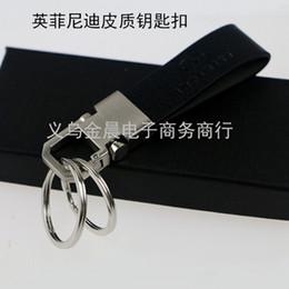 Pièces auto 3D série creuse mini Métal 3D série creuse Porte-clés porte-clés de logo mini voiture pour Infiniti qx50 qx30 q50l q70l voiture styling à partir de infiniti porte-clés fabricateur