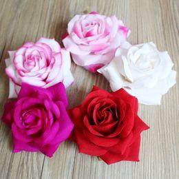 Simulated flower package heart rose Wedding Flowers Flower head diameter 10.5cm, thickness 5.5cm.