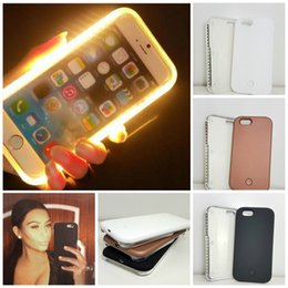 Wholesale Illuminated Case For Samsung S7 edge Led Selfie Case Light Up Your Face For iphone plus no logo with power bank