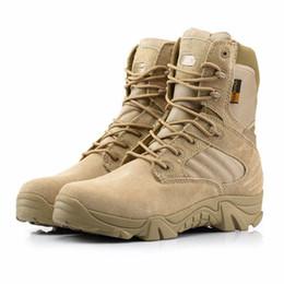Botas militares tácticas de los hombres, combate al desierto Ejército al aire libre senderismo Botas de viaje, de calidad especial Zippered zapatos de trabajo hiking boot military promotion desde bota militar proveedores
