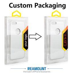 Wholesale Personalize Custom Logo Universal PVC Transparent Plastic Retail Packaging Box for iPhhone 7 7 Plus Phone Case Cover