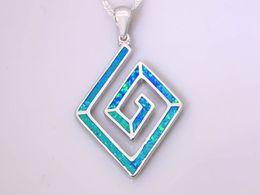 Wholesale & Retail Fashion Jewelry Fine Blue Fire Opal Stone Sterling Sliver Pendants For Women PJL170127002
