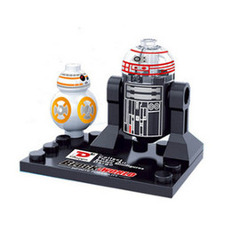 Vente en gros 10pcs Star Wars Super héros Marvel Avengers BB8 R2D2 mini action Figures Building Blocks Bricks Jouets Pour enfants Enfants à partir de fabricateur
