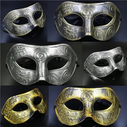 Wholesale Mens Mask For Mardi Gras Masquerade and Gladiator masquerade Vintage Christmas Party Superhero Cape Performance Mask Chrismas Best Gift