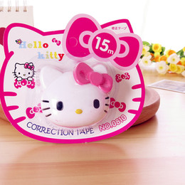 Masque de chat en Ligne-Vente en gros-1Pcs / set Bande de correction de Kawaii Hello Kitty Rubans de masquage DIY scrapbooking Papeterie de ruban de correction Fournitures scolaires