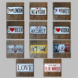Wholesale Car No plate of rich choice tin signs tin sign metal poster adverte beer Tin Signs Decor Home Club Bar X15 CM
