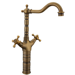 Wholesale and retail Wrench type all copper antique European style faucet spot supply hand washing basin hot and cold water tap