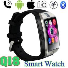 Wholesale 2017 Best Q18 Smart Watch wireless NFC Remote camera SIM GSM Card Passometer smart wristbands facebook