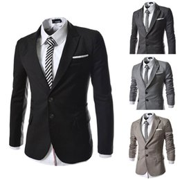 New Fashion Slim Fit Stylish Mens V Neck Blazer Suit Coat Jacket Men's Clothing hot sale