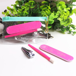 3pcs Professional Pedicure Set Manicure Nail Art Tools Files Emery Board Cuticle Pusher Stick Clipper Trimmer Personal Travel Nail Care Set
