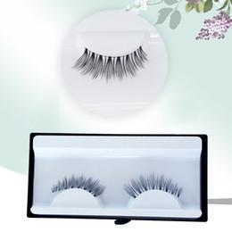1 pair  box Fashion Women Cluster Eyelash, Pure handwork False Eyelashes, Natural Tenuous thick Curling False Eyelashes,