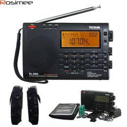 Wholesale Original TECSUN PL Radio PLL SSB VHF AIR Band Radio Receiver FM MW SW LW Radio Multiband Dual Conversion TECSUN PL660
