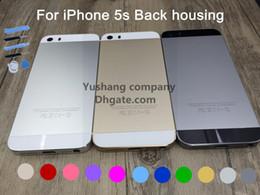 Pour Apple Iphone 5s SE Châssis de remplacement Retour Housse Boîtier avec LOGO BoutonsSim Bac Haute Qualité Iphone 5s logement à partir de logos sim fabricateur