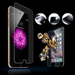 Iphone vidrio de alta calidad en Línea-Protector de cristal templado superior de la pantalla de la alta calidad para el iphone samsung sony Protetores claros de la pantalla Película endurecida