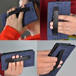 Mélanger le cas de la mode en Ligne-Étui en cuir folio rabattable à la mode avec étui à main pour étui de protection pour HP Elite x3 Falcon HP x3 boîtier de 5,96 pouces