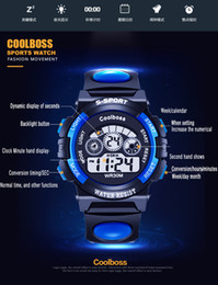 Wholesale Free ship COOLBOSS Brand Dive m Men Electronic Sports Watches Outdoor Military LED Watch Digital Quartz Wristwatches Relogio Masculino