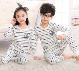 Children's underwear suits cotton girls fall boy clothing cotton pajamas Baby autumn winter underwear