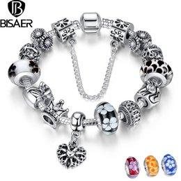 Lien pour perles à vendre-Argent Plaqué Bracelets Coeur Bracelet Femmes Chaîne de sécurité Bracelets Bracelets Lien Compatible avec Bijoux Argent