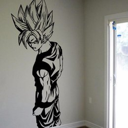 Super Saiyan Goku Vinyl Wall Decal - Dragon Ball Z, DBZ Anime Wall Art, Sticker Diamond Level