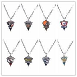 Wholesale 20pcs Huston Football Team Logo Fans Necklace For Men Women Enamel Sports Pendant Necklace AH103963