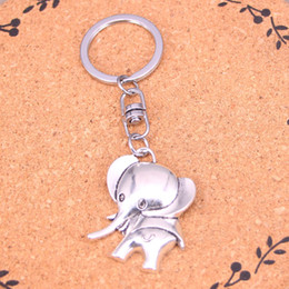 New Fashion big ears elephant Keychains Antique Silver plated Keyholder fashion Solid Pendant Keyring gift