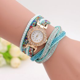 Korean women watch colorful cashmere round diamond drill BRACELET LADIES watches manufacturers Gifts wholesale fashion