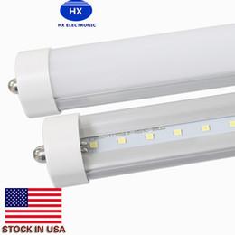 Stock In US + 8ft fa8 led tube Single Pin 8 FT T8 Led Light Tubes 192LEDs SMD2835 Led Fluorescent Light 45W 4800LM AC85-277V