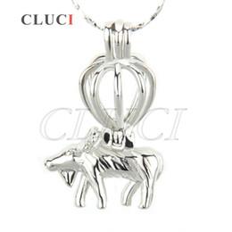 AIM Fashion Jewelry Charm 18K Silver Plated Goat avec coeur Locket Pendentif 5pcs 32 * 20 * 13.5mm à partir de charmes de chèvre fabricateur