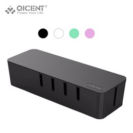 Wholesale QICENT Cable Management Electrical Outlet Boxes in for Power Strip Wire Arranging Ties Cord Organizer Clips