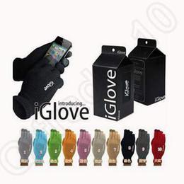 2016 écran tactile pour samsung 10 couleurs iGlove gants de sport écran tactile pour hiver chaud pour iphone Pour Samsung téléphone intelligent capacitif avec boîte de détail CCA5320 100pair promotion écran tactile pour samsung
