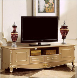 Wholesale hot selling new arrival Antique High Living Room Wooden furniture white color lcd TV Stand
