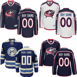 Wholesale Customized Men s Columbus Blue Jackets Custom Any Name Any Number Ice Hockey Jersey Authentic Jersey Embroidery Logos size S XL