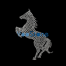 Wholesale Newest Running Horse Rhinestone Applique, Hot Fix Motifs Applique Strass For Sports Clothes