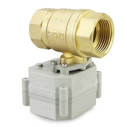 Wholesale price YIDAY quot DN25 DC12V V Way Motorized Ball Valve Normally Closed Brass CR2 Electric Ball Valve